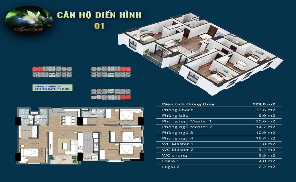 Thiết kế căn hộ 4 PN